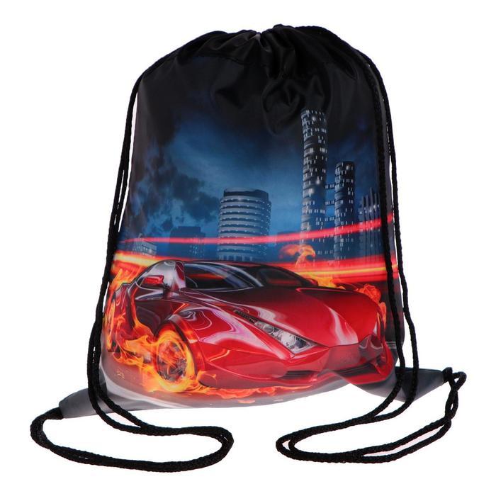 """Мешок для обуви 420 х 340 мм, Calligrata, МСО-5С, """"Авто в огне"""""""