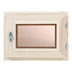 Окно, 30×40см, двойное стекло, тонированное, из липы Ош