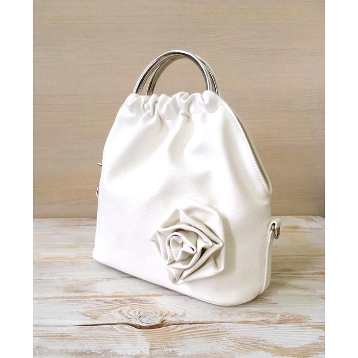 Cумка женская Rosita белый с розой