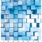 Панель потолочная PANDA Куб панно 4174 (упаковка 8 шт.), 3х2 м
