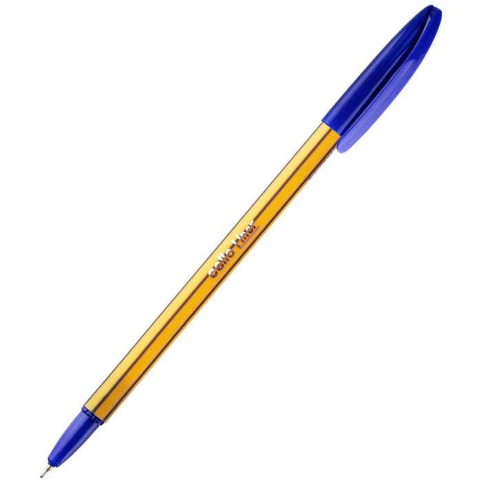 """Ручка шариковая Cello """"Liner"""" узел 0,7мм, чернила синие 746"""