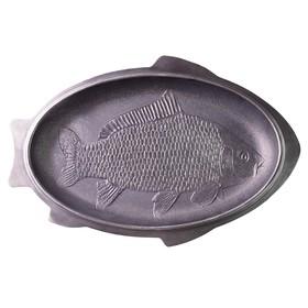 Сковорода чугунная для рыбы, 45×29 см