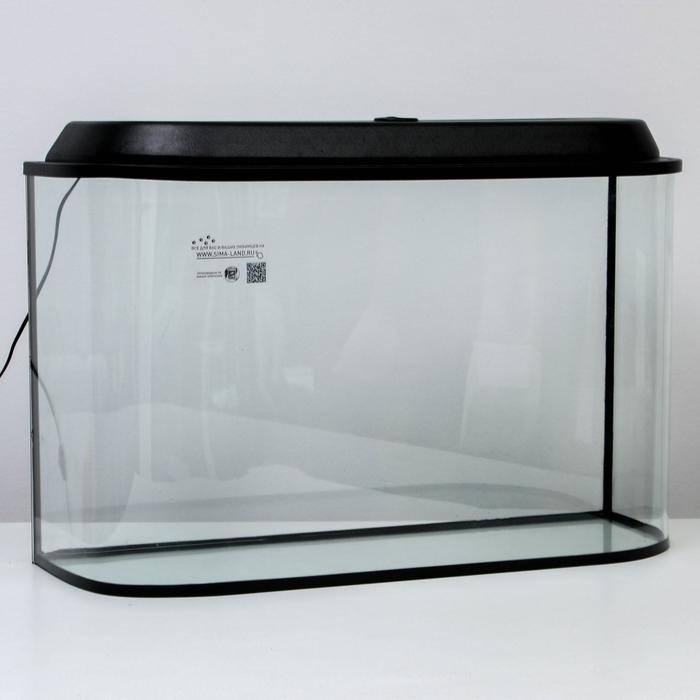 """Аквариум """"Лагуна"""", 110 л, черный 83х28х50 см"""