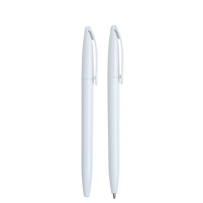 Ручка шариковая поворотная 0,5 мм, корпус белый, стержень синий