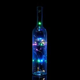 Гирлянда 'Бутылочная пробка' на солнечной батарее, 10 Led, разноцветный, мульти Ош