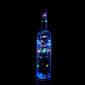 Гирлянда 'Бутылочная пробка' на солнечной батарее, 20 Led, разноцветный, мульти Ош