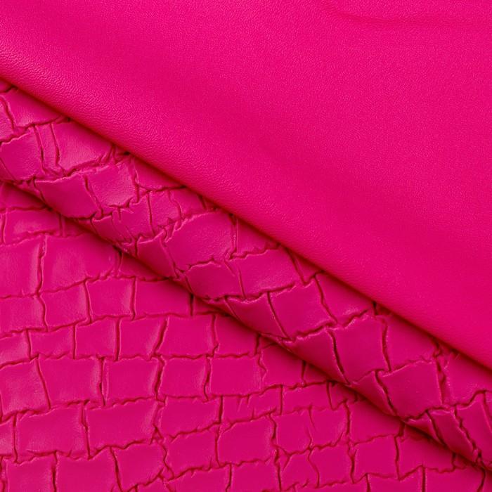 Пэчворк декоративная кожа «Розовая линия», 50 х 50 см.