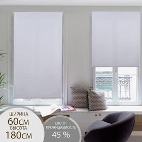 Штора рулонная «Механика», 60×180 см (с учётом креплений 3,5 см), цвет белый Ош