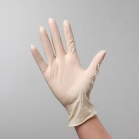Перчатки A.D.M. латексные неопудренные текстурированные на ладони, размер S, 100 шт в коробке