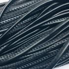 Шнур декоративный, кожзам, 6 мм, цвет чёрный