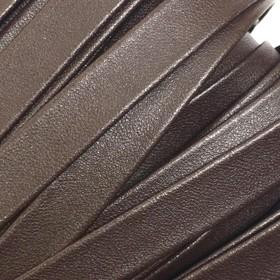 Шнур декоративный, кожзам, 10 мм, цвет коричневый Ош