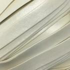 Шнур декоративный, кожзам, 10 мм, цвет молочный