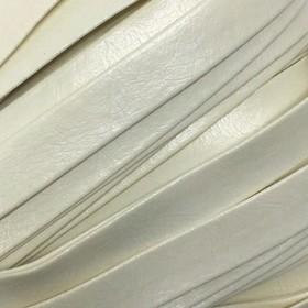 Шнур декоративный, кожзам, 10 мм, цвет молочный Ош
