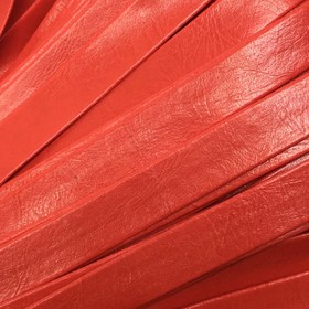 Шнур декоративный, кожзам, 10 мм, цвет красный Ош