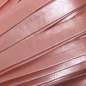 Шнур декоративный, кожзам, 10 мм, цвет розовый Ош