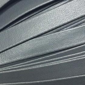 Шнур декоративный, кожзам, 10 мм, цвет серый Ош