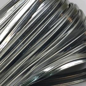 Шнур декоративный, кожзам, 4 мм, цвет серебро Ош