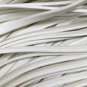 Шнур декоративный, кожзам, 4 мм, цвет молочный Ош