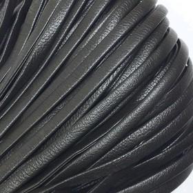 Шнур декоративный, кожзам, 4 мм, цвет коричневый Ош