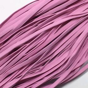 Шнур декоративный, кожзам, 4 мм, цвет розовый