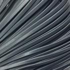 Шнур декоративный, кожзам, 4 мм, цвет серый