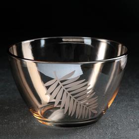 Салатник «Папоротник», 1 л, цвет янтарь