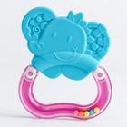 Погремушка с прорезывателем «Слоня», цвет МИКС