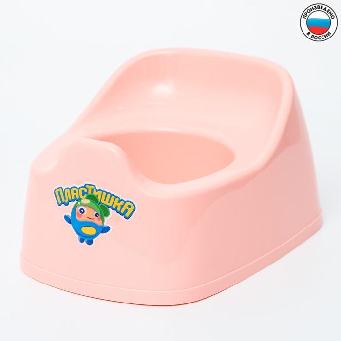 Горшок детский 27х22х15, цвет светло-розовый