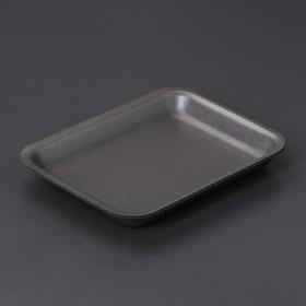 Подложка-лоток для продуктов, 17,8×13,5×2 см, 300 шт/уп, цвет чёрный Ош