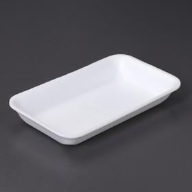 Подложка-лоток для продуктов, 22,5×13,5×3,2 см, 250 шт/уп, цвет белый Ош