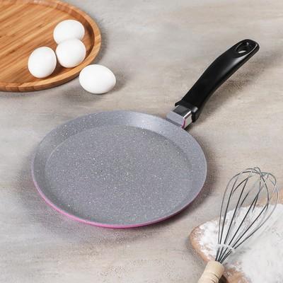 Сковорода блинная Casta Color, d=22 см, цвет розовый