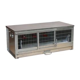 Брудер для цыплят, 100 × 40 × 45 см, с поддоном, кормушкой и поилкой, металлический Ош