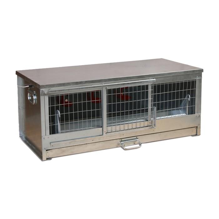 Брудер для цыплят, 100  40  45 см, с поддоном, кормушкой и поилкой, металлический