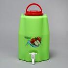 Канистра-умывальник пищевой, 10 л, зелёный - Фото 2