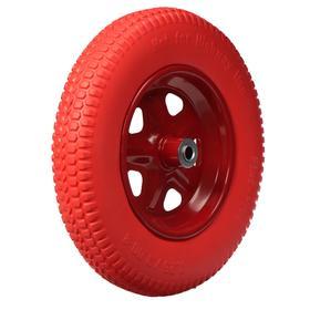 Колесо полиуретановое, 3.25-3.00-8, d колеса 365 мм, d ступицы 16 мм, L ступицы 85 мм Ош