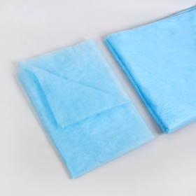 Простыня одноразовая, SS, 70 × 80 см, цвет голубой