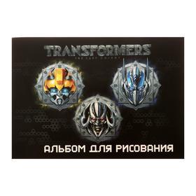 Альбом для рисования А4, 40 листов на скрепке Transformers, обложка мелованный картон, двойной УФ-лак, блок офсет