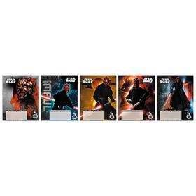 Тетрадь 18 листов в линейку Star Wars, обложка мелованный картон, двойной УФ-лак, тиснение фольгой, блок офсет, МИКС