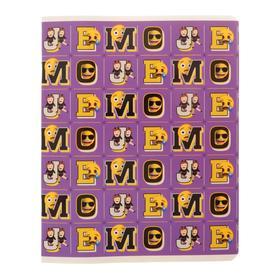 Тетрадь 48 листов в клетку Emoji, обложка мелованный картон, выборочный УФ-лак, блок офсет, МИКС