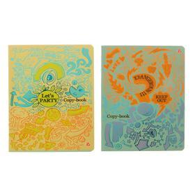 Тетрадь 48 листов в клетку Sketch, обложка мелованный картон, двойной УФ-лак, тиснение фольгой, МИКС