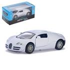 Машина металлическая «СпортКар», инерционная, свет и звук, 1:32, цвет белый