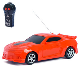 Машина радиоуправляемая «Мустанг», работает от батареек, цвет красный Ош