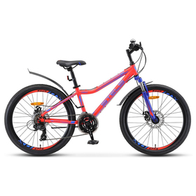 Велосипед 24' Stels Navigator-410 MD, V010, цвет неоновый/красный, размер 13' Ош