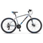 """Велосипед 26"""" Stels Navigator-500 D, F010, цвет серебристый/синий, размер 16"""""""