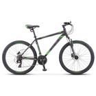 """Велосипед 26"""" Stels Navigator-500 D, F010, цвет черный/зеленый, размер 16"""""""