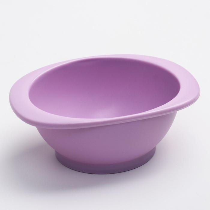Миска детская, 200 мл., цвет фиолетовый, 13х9,5х5