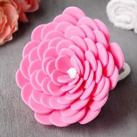 Мочалка-цветок, розовая
