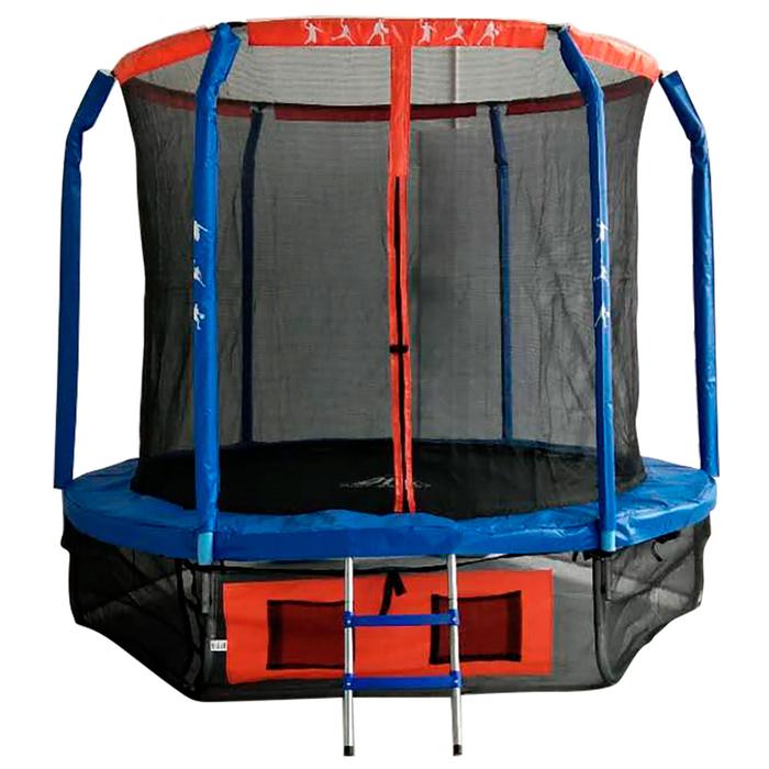 Батут DFC JUMP BASKET, d=244 cм, с внутренней защитной сеткой и лестницей