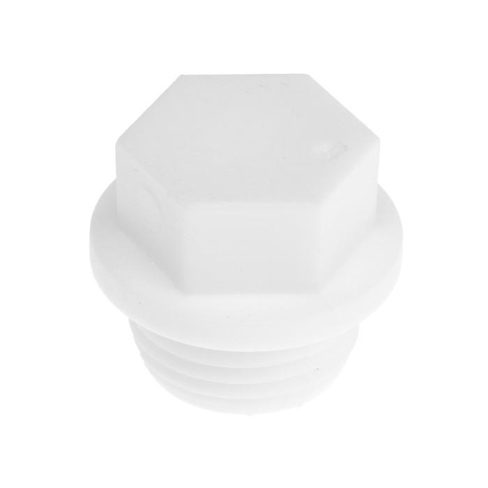 Заглушка полипропиленовая VALFEX PRO, резьбовая, 20 мм х 1/2