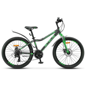 Велосипед 24' Stels Navigator-410 MD, V010, цвет черный/зеленый, размер 12' Ош